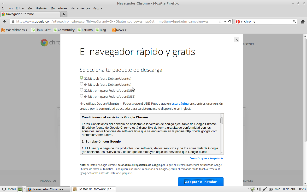 descargar chrome